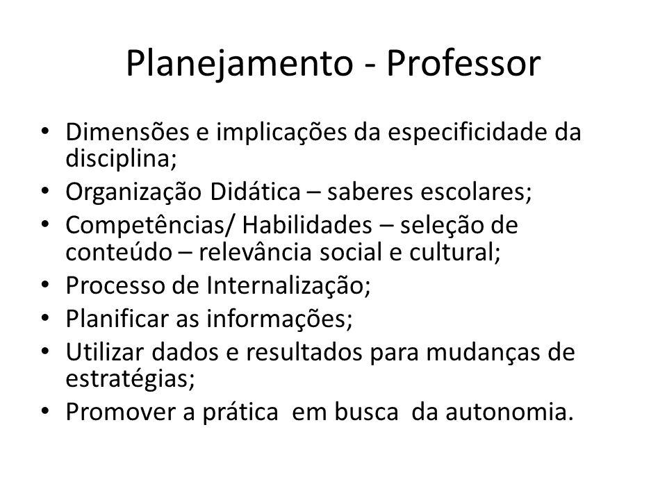 Planejamento - Professor