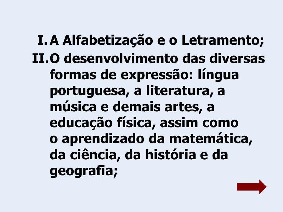A Alfabetização e o Letramento;