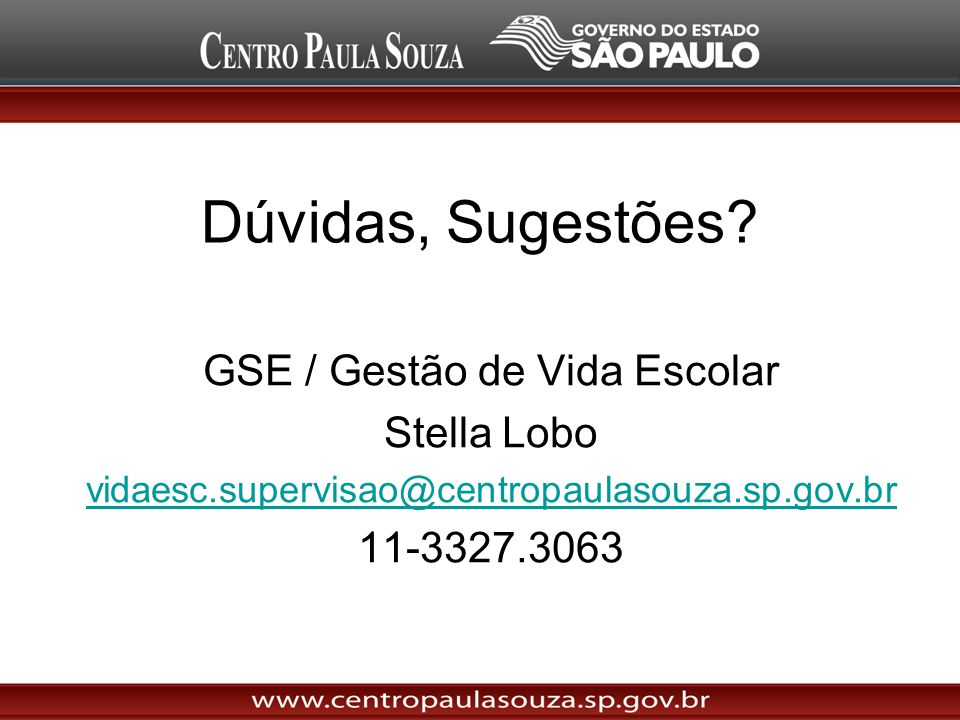 GSE / Gestão de Vida Escolar