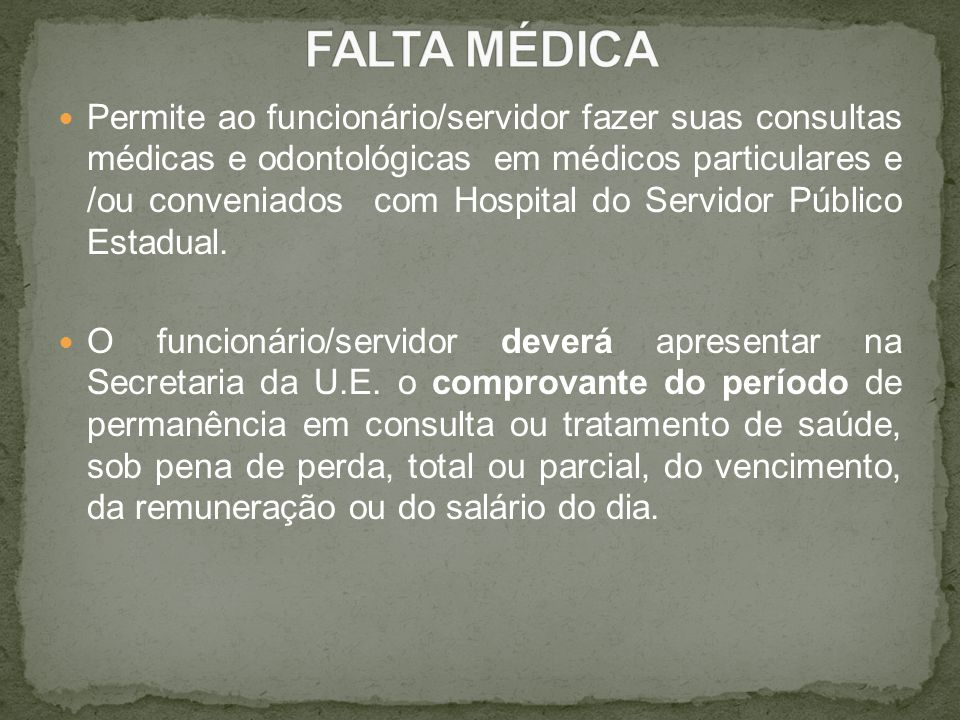 FALTA MÉDICA