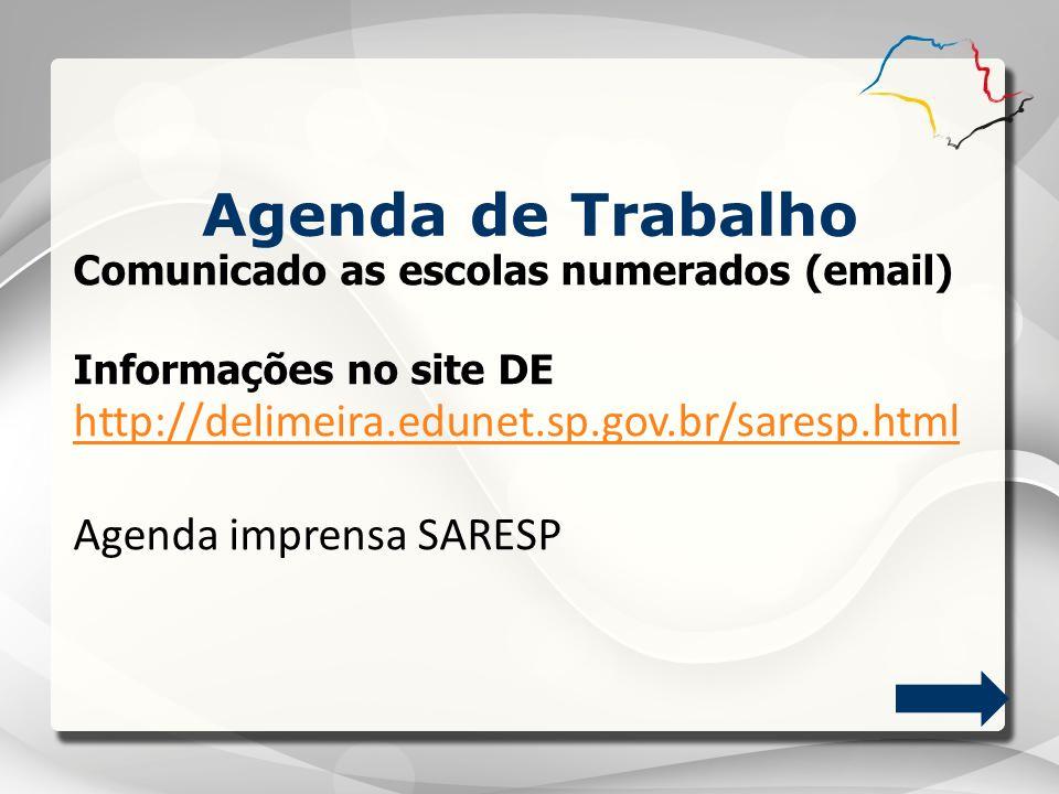 Agenda de Trabalho http://delimeira.edunet.sp.gov.br/saresp.html