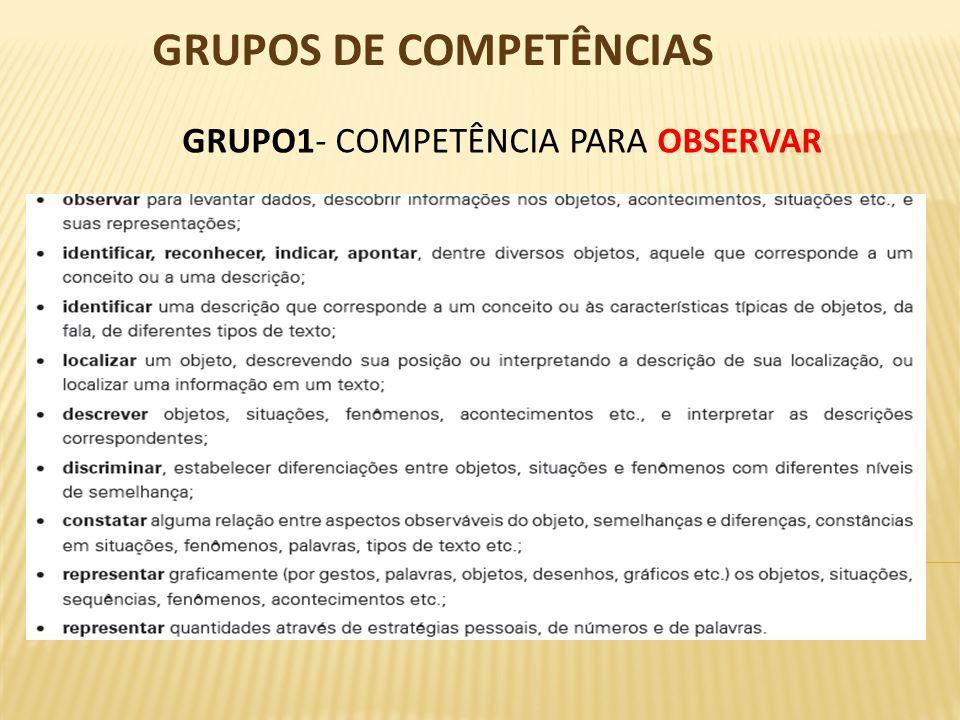 GRUPOS DE COMPETÊNCIAS
