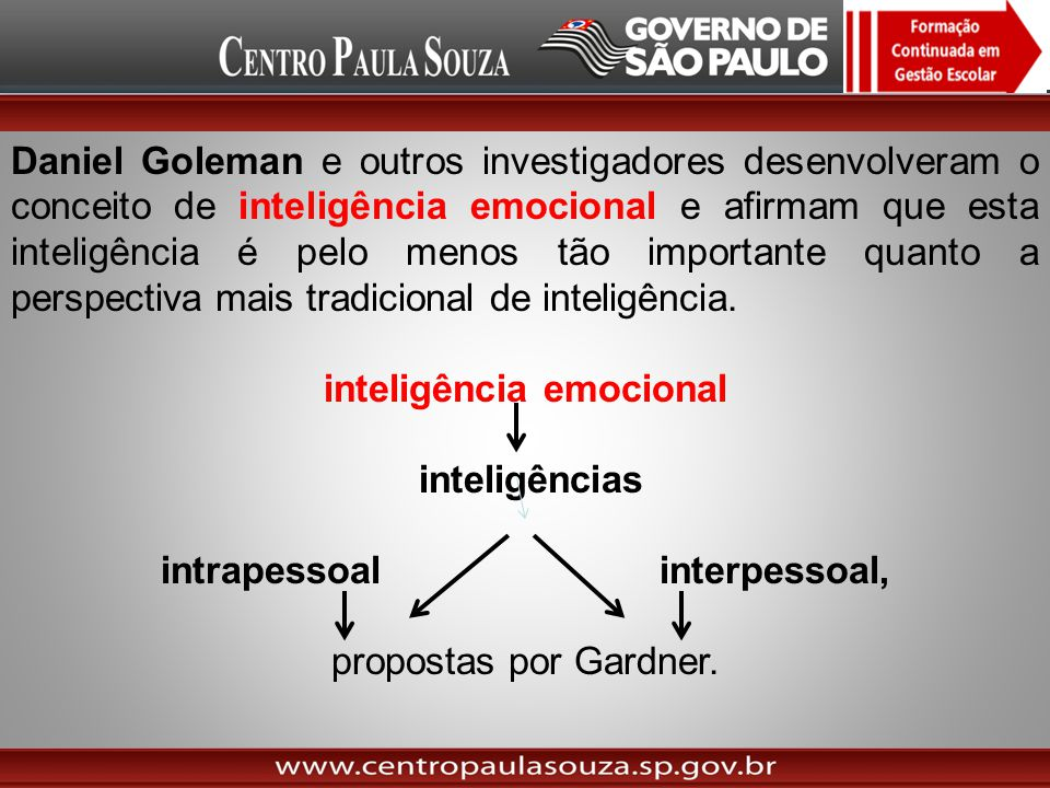 inteligência emocional intrapessoal interpessoal,