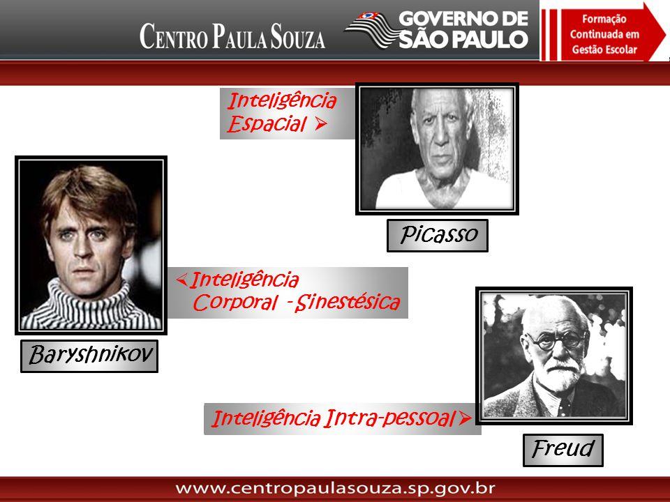 Picasso Baryshnikov Freud Inteligência Espacial  Inteligência