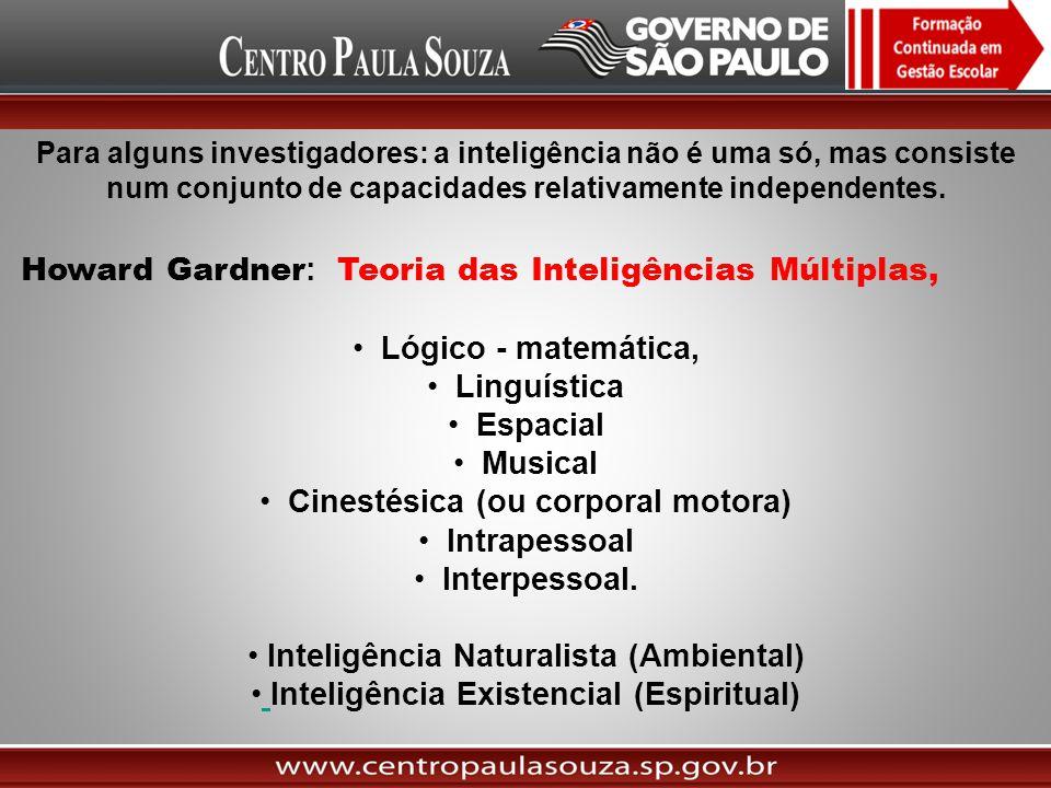 Howard Gardner: Teoria das Inteligências Múltiplas,