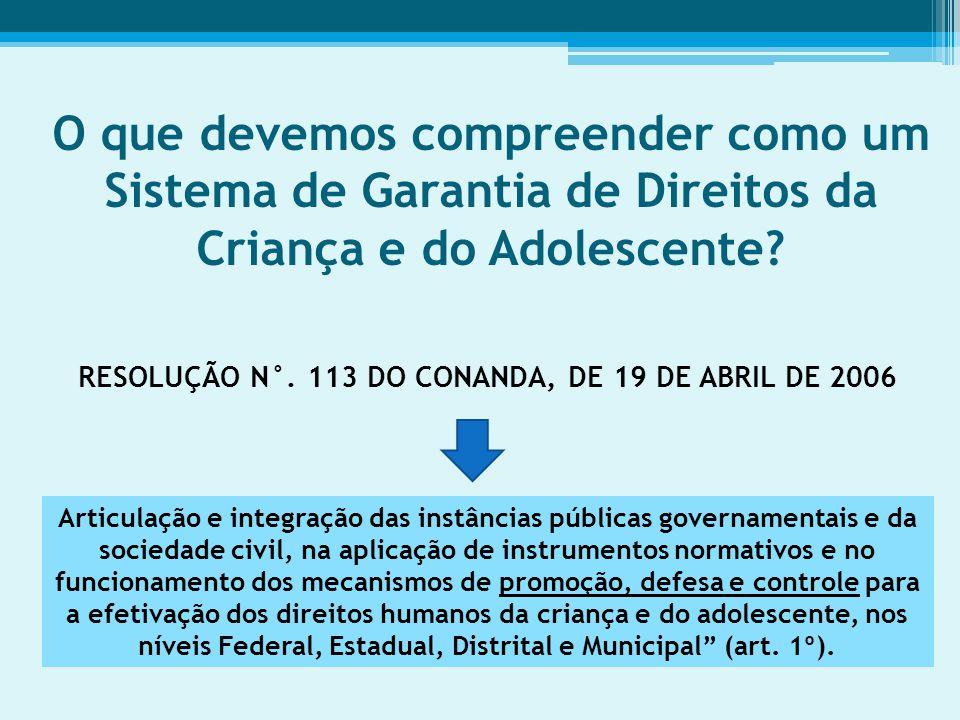 RESOLUÇÃO N°. 113 DO CONANDA, DE 19 DE ABRIL DE 2006