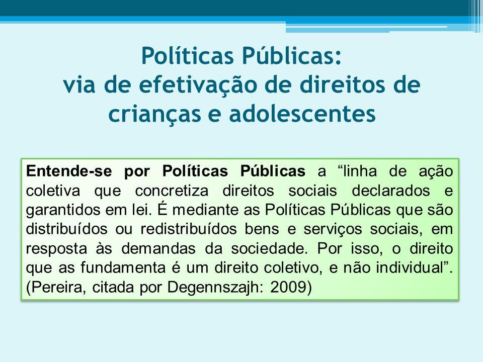 Políticas Públicas: via de efetivação de direitos de crianças e adolescentes