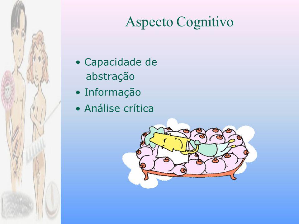 Aspecto Cognitivo • Capacidade de abstração • Informação