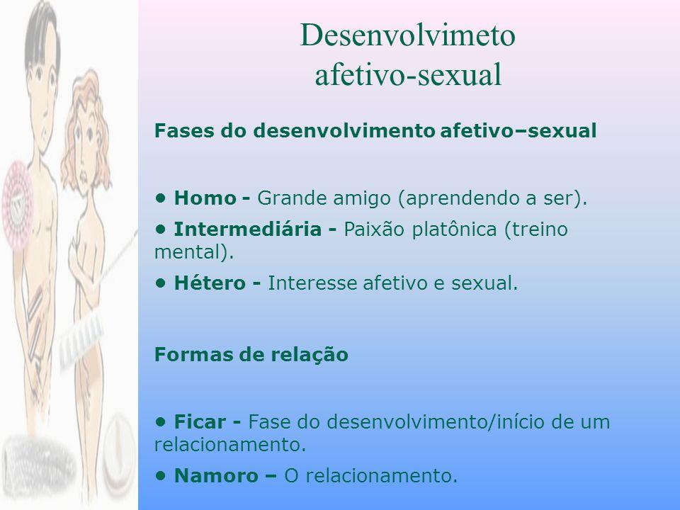 Desenvolvimeto afetivo-sexual Fases do desenvolvimento afetivo–sexual