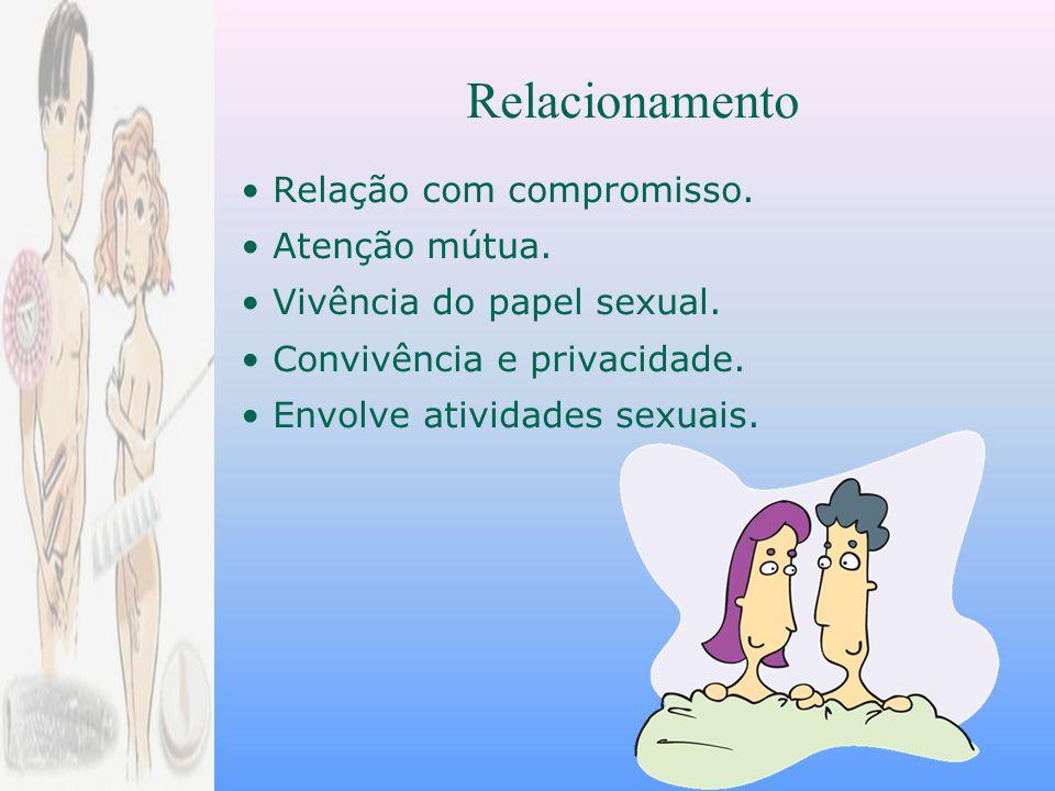 Relacionamento • Relação com compromisso. • Atenção mútua.