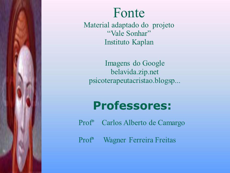 Fonte Professores: Material adaptado do projeto Vale Sonhar