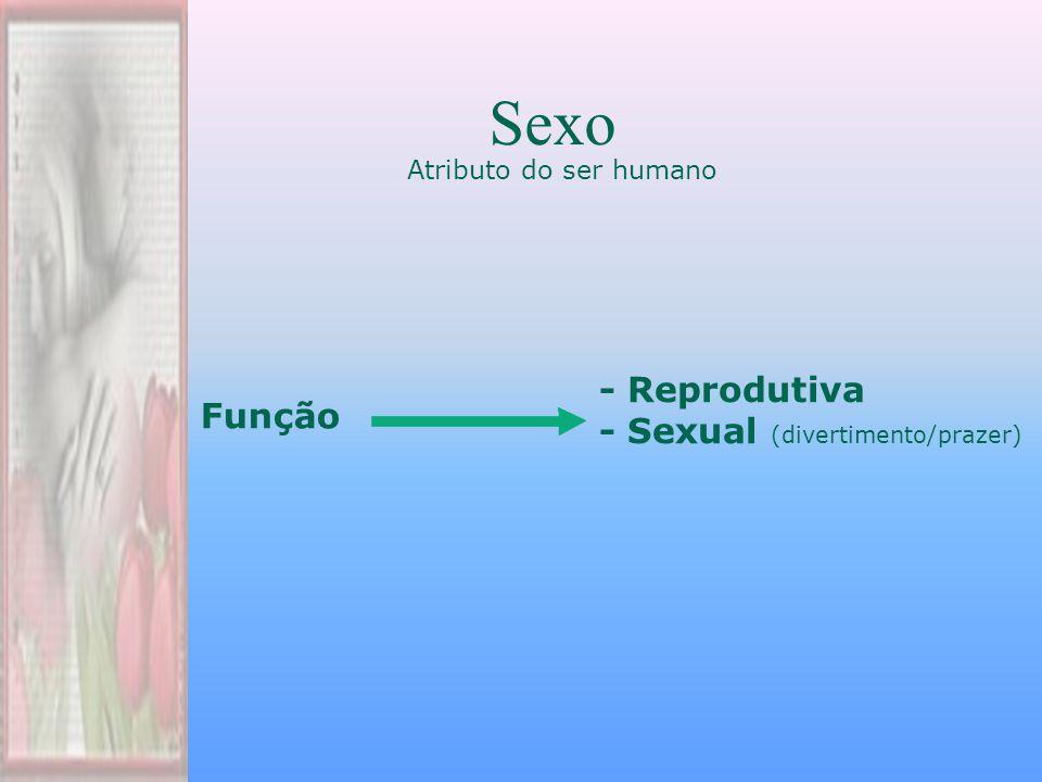 Sexo - Reprodutiva - Sexual (divertimento/prazer) Função