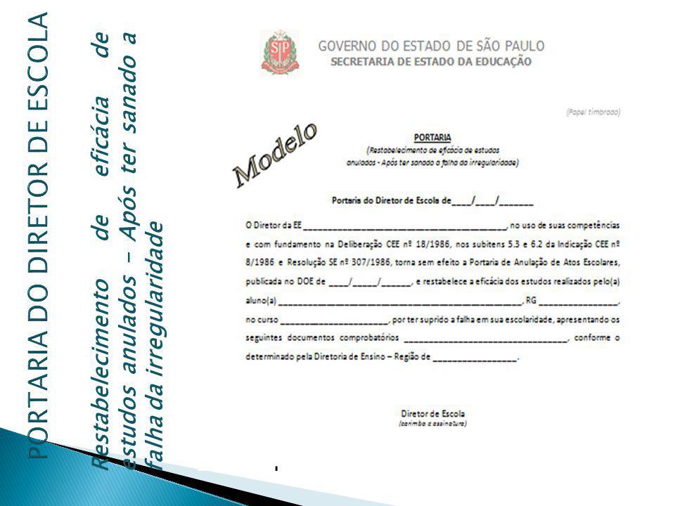 PORTARIA DO DIRETOR DE ESCOLA