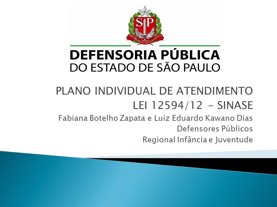 PLANO INDIVIDUAL DE ATENDIMENTO LEI 12594/12 - SINASE