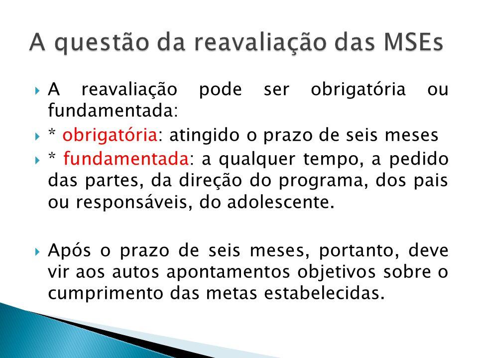 A questão da reavaliação das MSEs