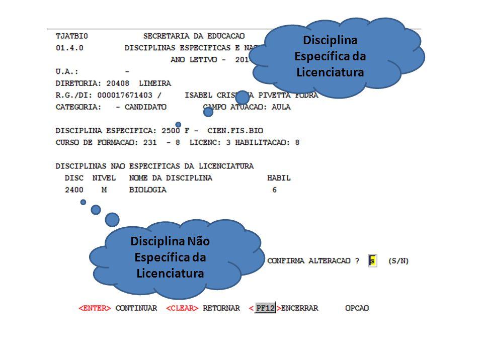 Disciplina Específica da Licenciatura
