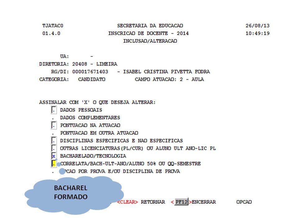 BACHAREL FORMADO