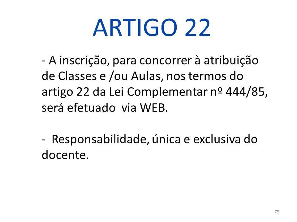 ARTIGO 22