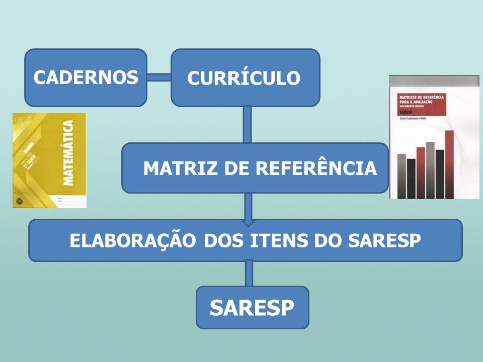 ELABORAÇÃO DOS ITENS DO SARESP