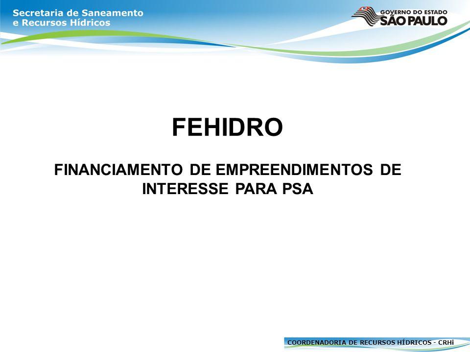 FINANCIAMENTO DE EMPREENDIMENTOS DE INTERESSE PARA PSA