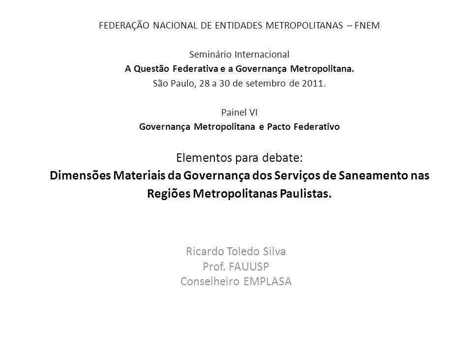 Ricardo Toledo Silva Prof. FAUUSP Conselheiro EMPLASA