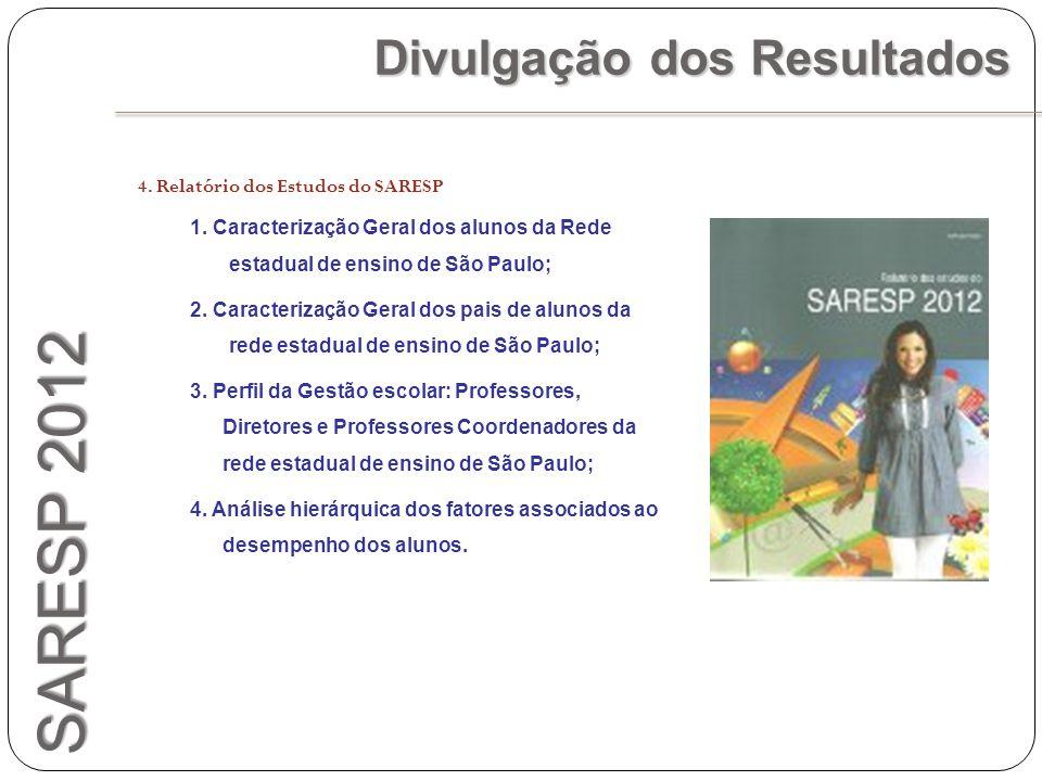 SARESP 2012 Divulgação dos Resultados