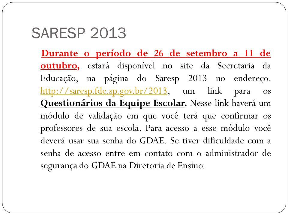 SARESP 2013