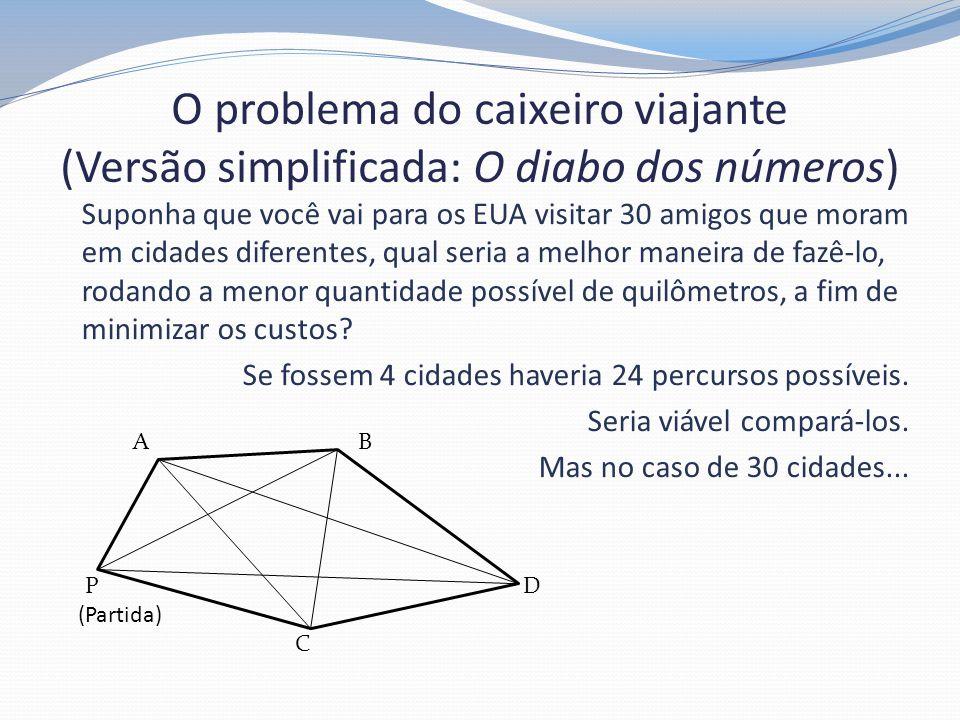O problema do caixeiro viajante (Versão simplificada: O diabo dos números)