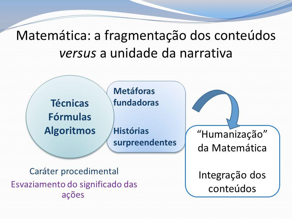 Matemática: a fragmentação dos conteúdos versus a unidade da narrativa