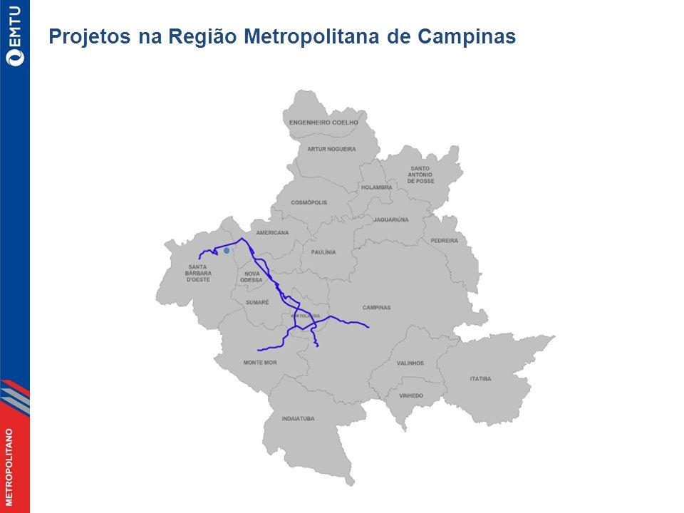 Projetos na Região Metropolitana de Campinas