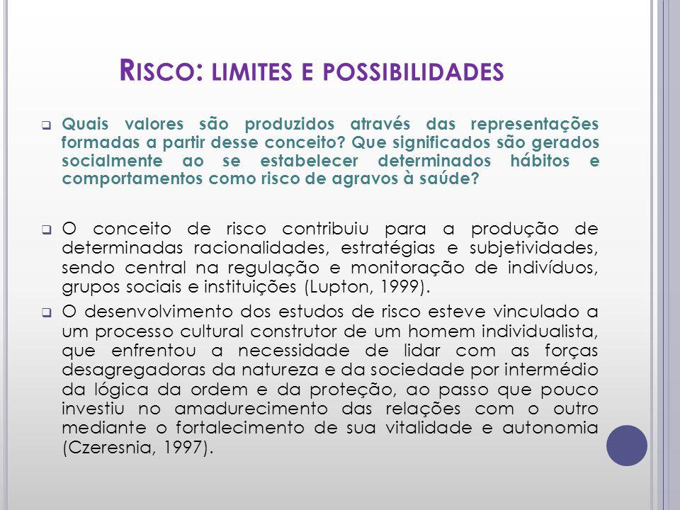 Risco: limites e possibilidades