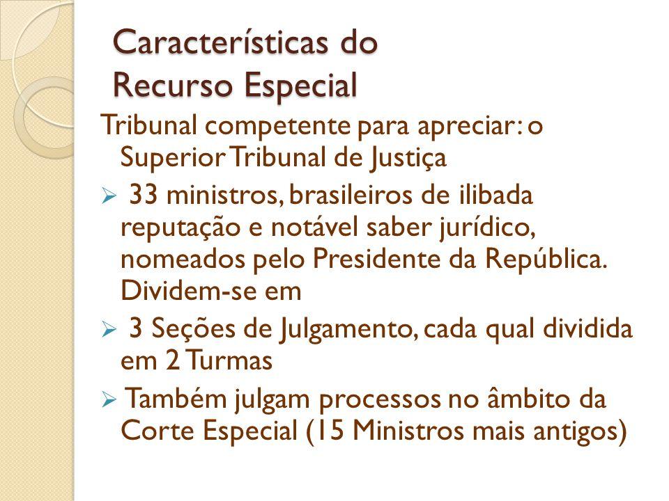 Características do Recurso Especial