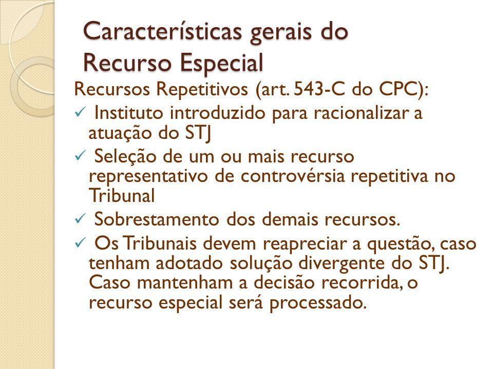 Características gerais do Recurso Especial