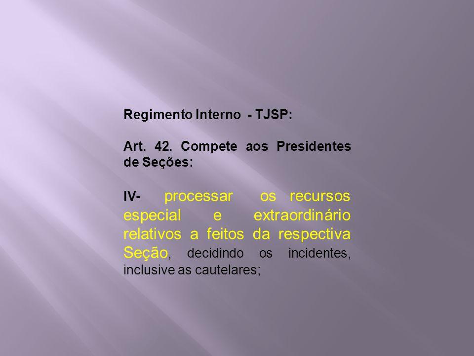Regimento Interno - TJSP: