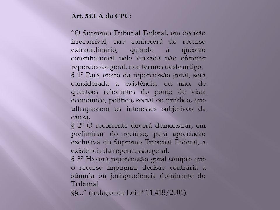 Art. 543-A do CPC: