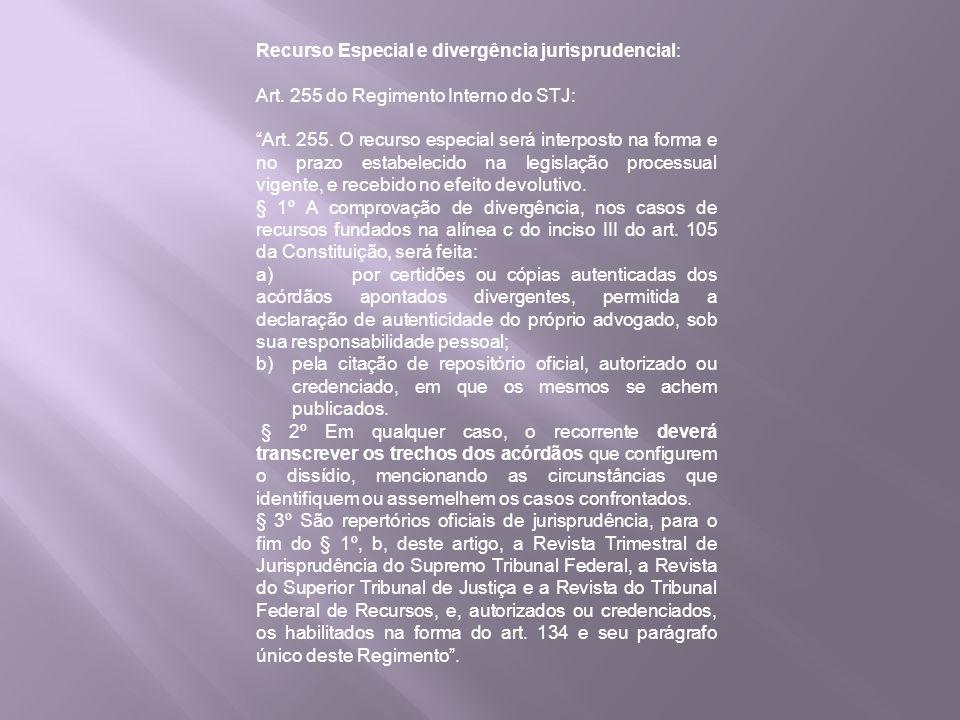 Recurso Especial e divergência jurisprudencial: