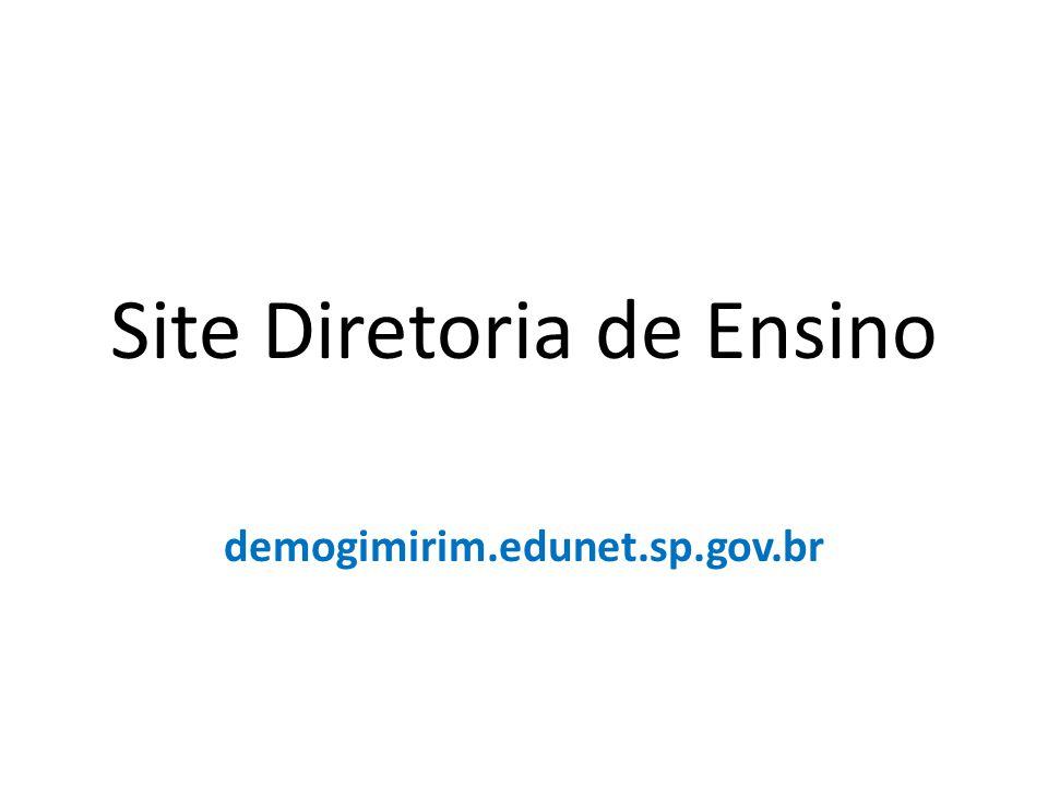 Site Diretoria de Ensino