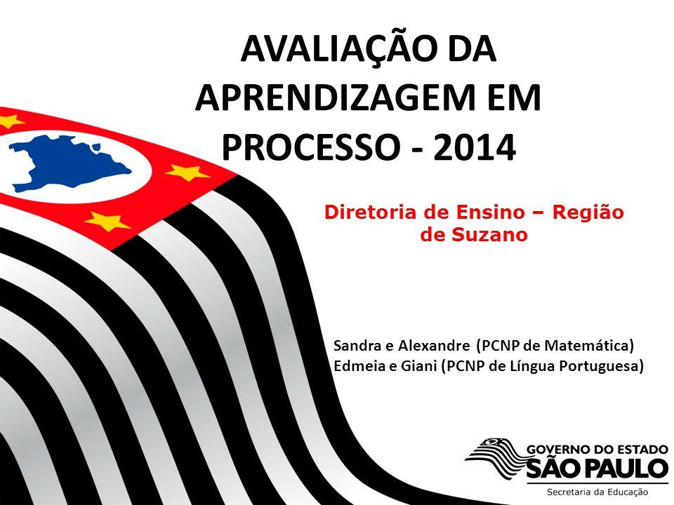 AVALIAÇÃO DA APRENDIZAGEM EM PROCESSO - 2014