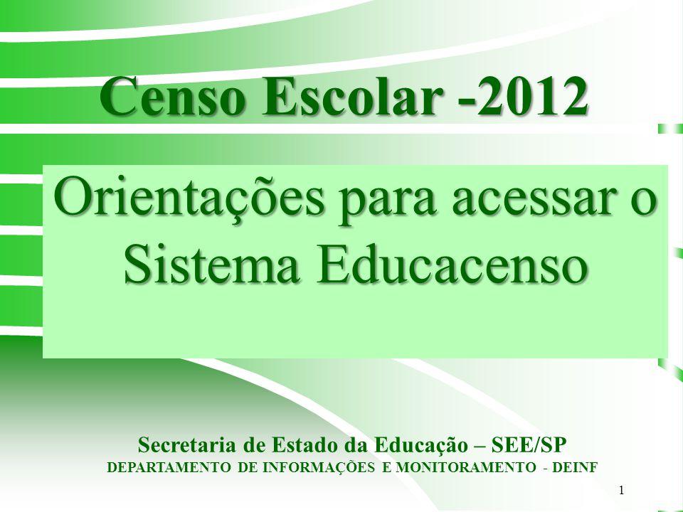 Orientações para acessar o Sistema Educacenso