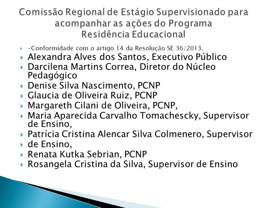 Comissão Regional de Estágio Supervisionado para acompanhar as ações do Programa Residência Educacional