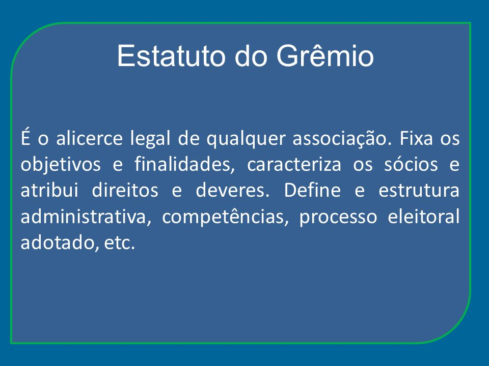 Estatuto do Grêmio