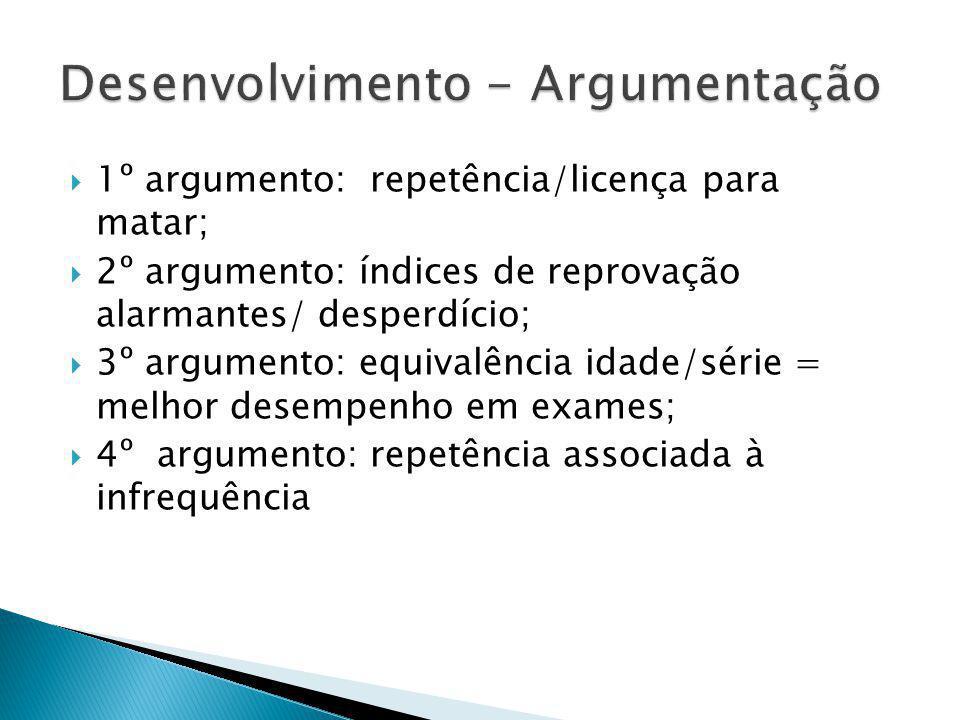 Desenvolvimento - Argumentação