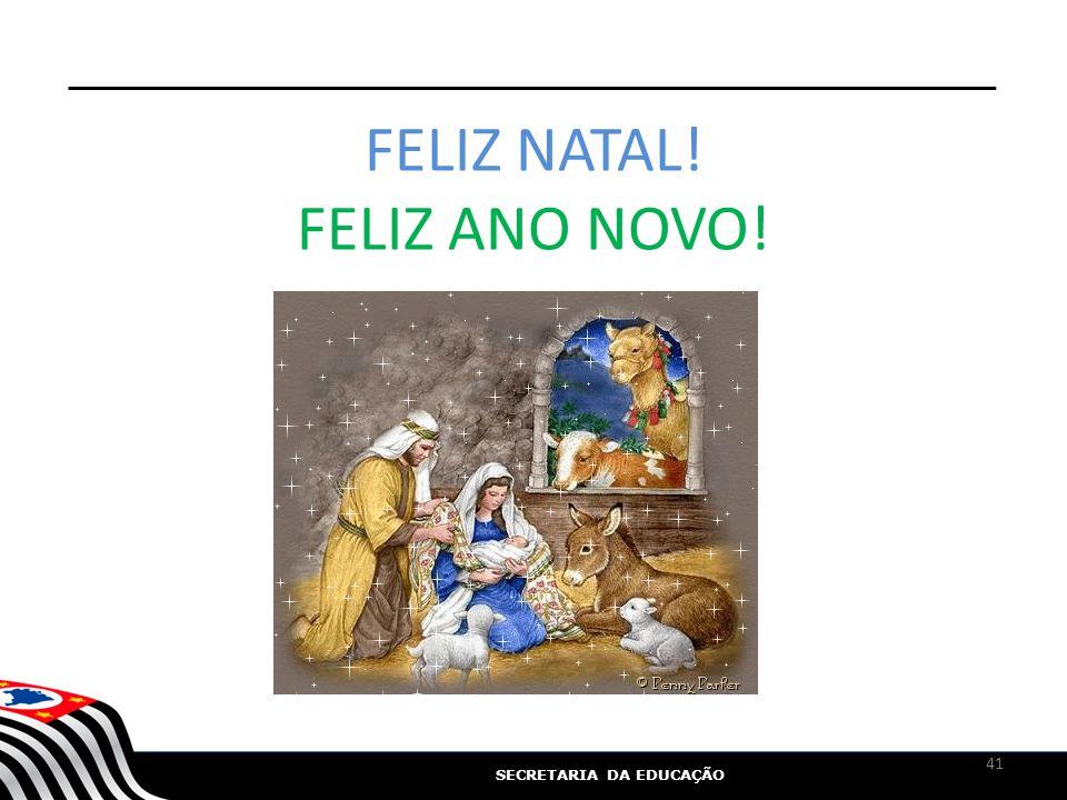 FELIZ NATAL! FELIZ ANO NOVO!