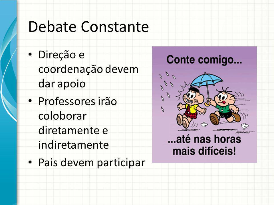 Debate Constante Direção e coordenação devem dar apoio