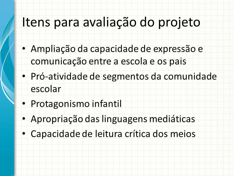 Itens para avaliação do projeto