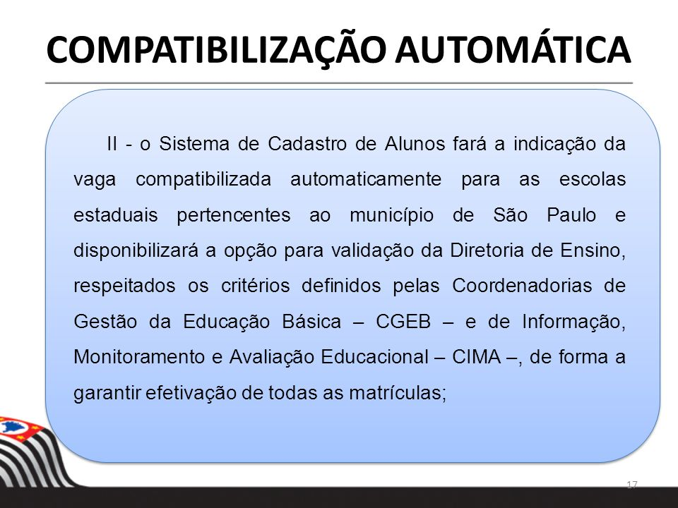 COMPATIBILIZAÇÃO AUTOMÁTICA