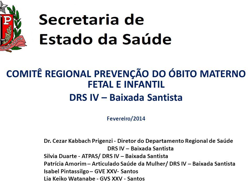 COMITÊ REGIONAL PREVENÇÃO DO ÓBITO MATERNO FETAL E INFANTIL