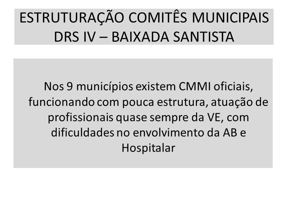 ESTRUTURAÇÃO COMITÊS MUNICIPAIS DRS IV – BAIXADA SANTISTA