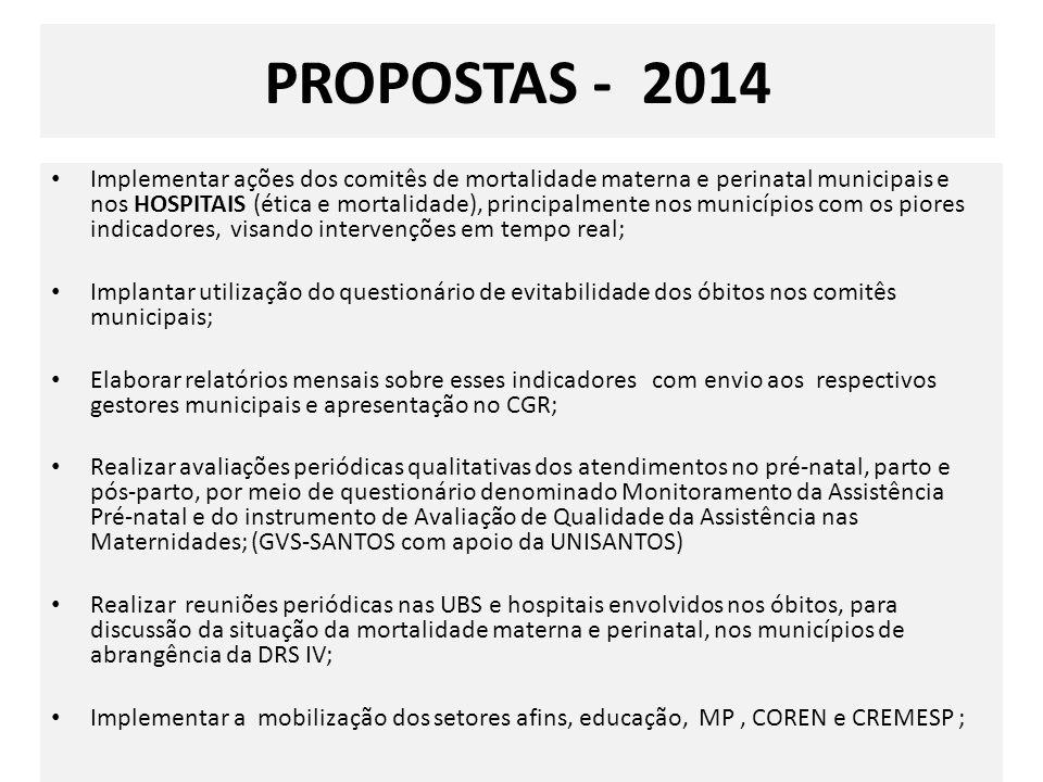 PROPOSTAS - 2014