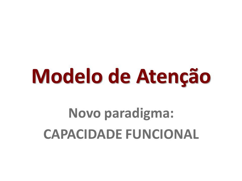 Novo paradigma: CAPACIDADE FUNCIONAL
